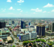Skyline of Nairobi (Kenya)